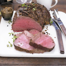 Spiced Roast Beef With Red Wine Gravy