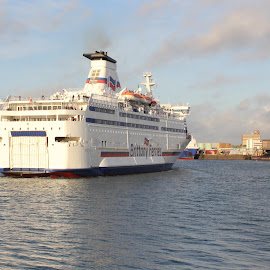 ferry by Mark Benford - Transportation Boats ( passenger, ferry, transport, summertime, boat, large,  )