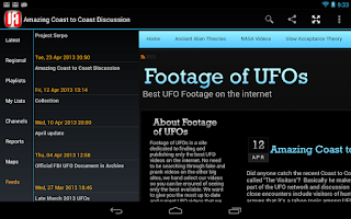 Screenshot of UFO Watch