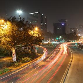by Ahmat Supriyadhi - City,  Street & Park  Night ( city lights, night, slow speed, nightscape, city,  )