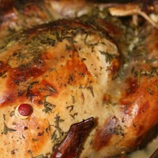 Very Juicy Roast Turkey Cooked With Herbs And Rose