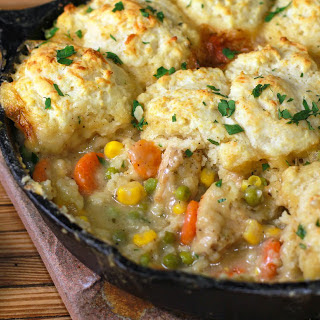 One Skillet Chicken Pot Pie in Just 30 Minutes