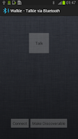 Screenshot of Walkie - Talkie via Bluetooth
