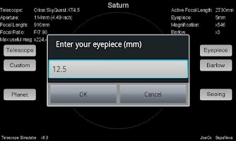 Screenshot of Telescope Simulator