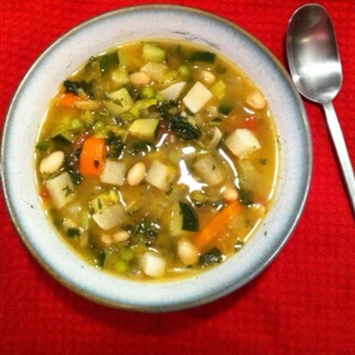 Vegetable Soup With Turnips And Zucchini