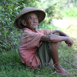 a farmer grandfather by Ani Liriahaq - People Portraits of Men