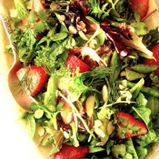 Summer Strawberry Salad with Grapefruit Shallot Vinaigrette