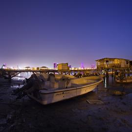 when the night fall by Ahmad Azaharuddin Omar - Landscapes Travel ( vilage, manama, bahrain, fisherman, muharaq )