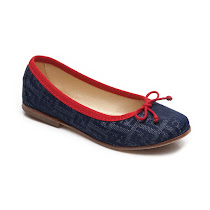 Fendi Denim Ballerina Pump JUNIOR BALLENNA