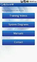 Screenshot of SALUS Controls Official App