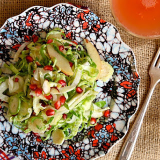 Apple Pomegranate Brussels Sprout Salad