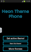 Screenshot of Neon Theme Keyboard Phone
