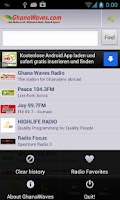 Screenshot of Ghana Radio Stations & News