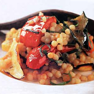 Broiled Vegetables with Toasted Israeli Couscous
