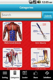 A-Z Muscle & Bone Anatomy LITE - screenshot