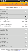 Screenshot of UK Train Times: Train Scout