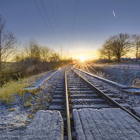 Trainspotting by Manu Heiskanen - Uncategorized All Uncategorized ( sweden, winter, snow, eskilstuna, rail, train )