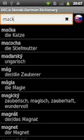 Screenshot of Slovak - German offline dict.
