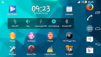 Screenshot of Deep Sea Blue Xperien Theme