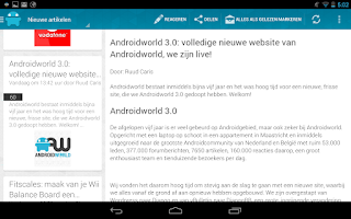 Screenshot of Androidworld: Android nieuws