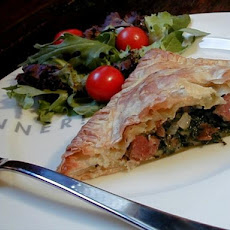 Sausage and Spinach Pastry Puffs