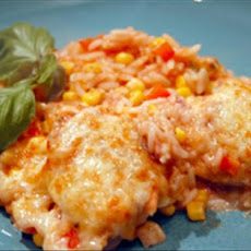 Spanish Chicken & Rice Bake