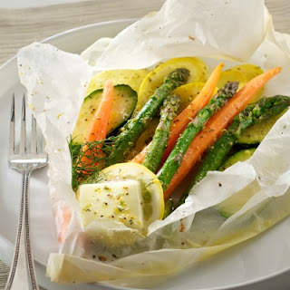 Plugrá's Vegetables en Papillote (in Parchment) with Lemon Herb Butter Sauce