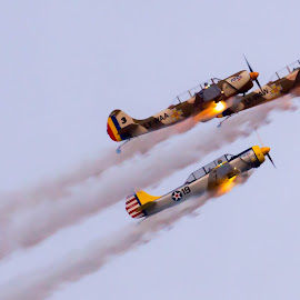 by Adrian Ioan Ciulea - News & Events Entertainment ( flight, sky, events, show, planes, fire, entertainment, air show )