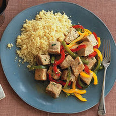 Tri-Pepper Tuna with Couscous