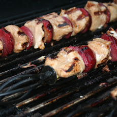 Grilled 5 Spice Chicken & Plum Kabobs