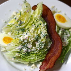 Wedge Salad With Ranch Dressing and Crumbled Blue Cheese