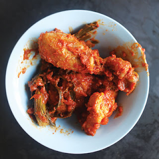 Ayam Masak Merah (Malay-Style Red-Cooked Chicken with Pandan)