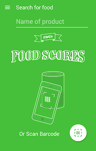EWG's Food Scores - screenshot