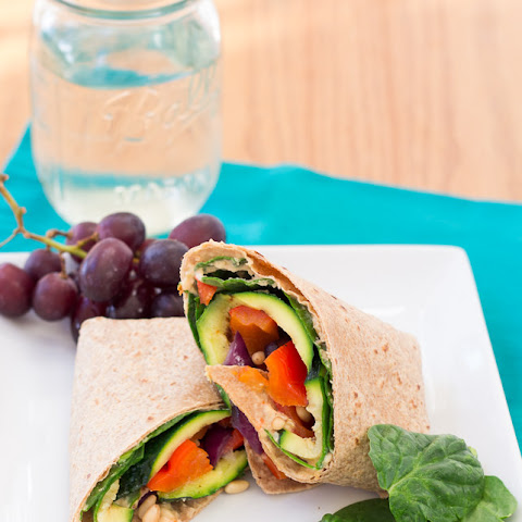 Hummus and Grilled Vegetable Wrap Recipe | Yummly