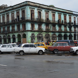 Old cars by Richard St-Hilaire - Transportation Automobiles ( vieux chars, lada, old city, old cars, havana, cuba )