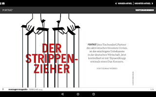 Screenshot of manager magazin
