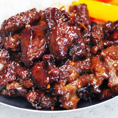 Crispy Beef with Sticky Orange Sauce