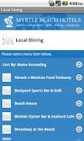 Screenshot of Myrtle Beach Hotels