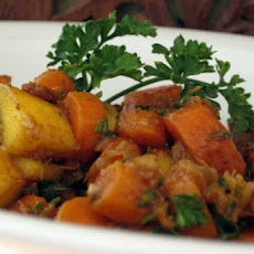 Stir Fried Carrots With Mango and Ginger