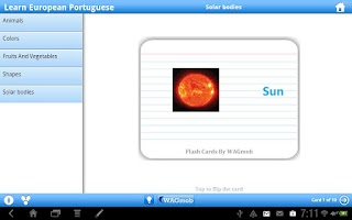 Screenshot of Learn European Portuguese