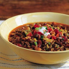 Beef Chili with Masa Harina in a Stovetop Pressure Cooker