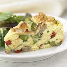 Strata with Asparagus, Sausage and Fontina