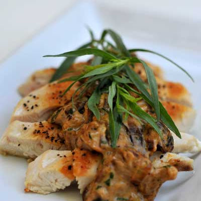 Gluten Free Dairy Free Chicken with Mushroom Cream Sauce