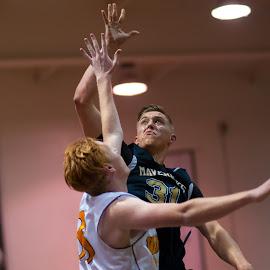 Lazer eyes for the shot by Kevin Mummau - Sports & Fitness Basketball ( two, basketbball, layup;, block, focus, eyes )