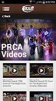 Screenshot of PRCA ProRodeo
