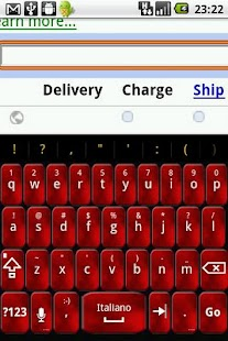 Red Foggy Keyboard Skin - screenshot