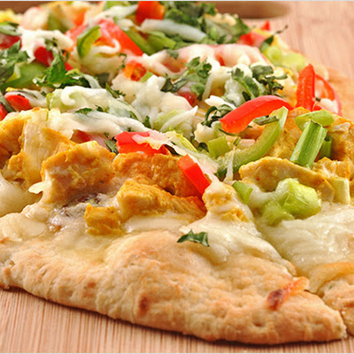 Sweet-Spicy Turkey Flatbreads