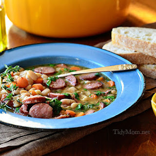 Easy Smoked Sausage & White Bean Soup