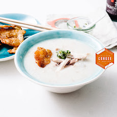 Chicken Congee with Crispy Chicken Skin