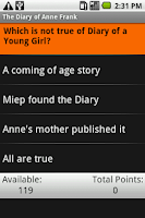 Screenshot of The Diary of Anne Frank